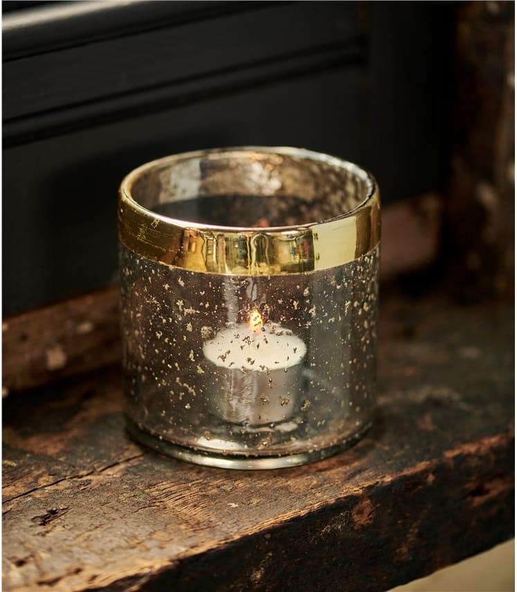 Hand Blown Tea Light Candle Holder