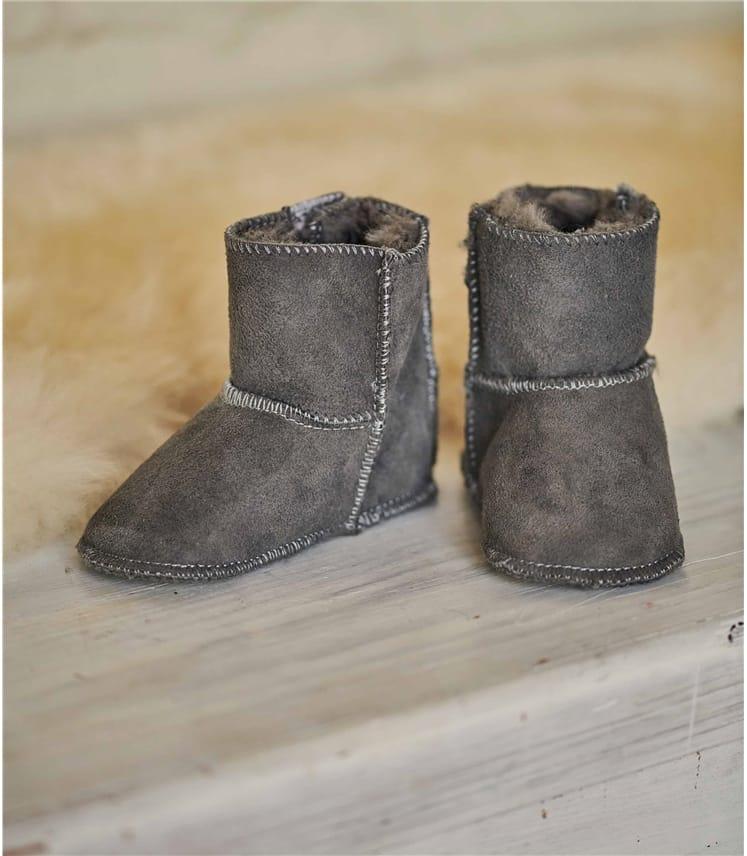 Детские ботинки из овчины