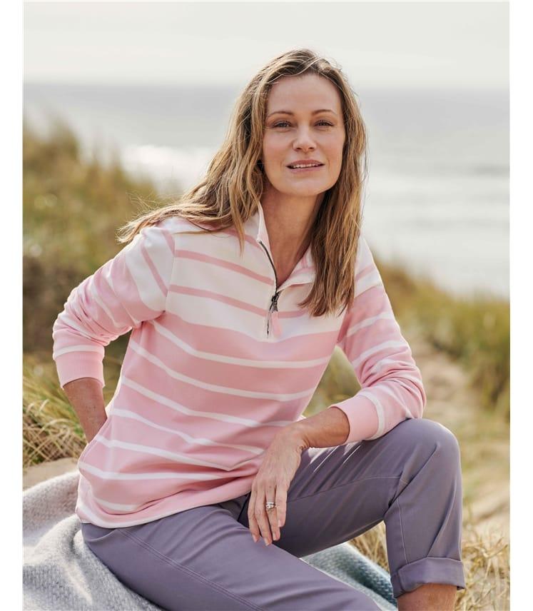 Organic Cotton Half Zip Sweatshirt