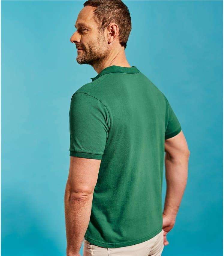 Mens Slim Jersey Polo Shirt