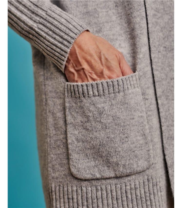 Strickjacke mit Schalkragen für Damen