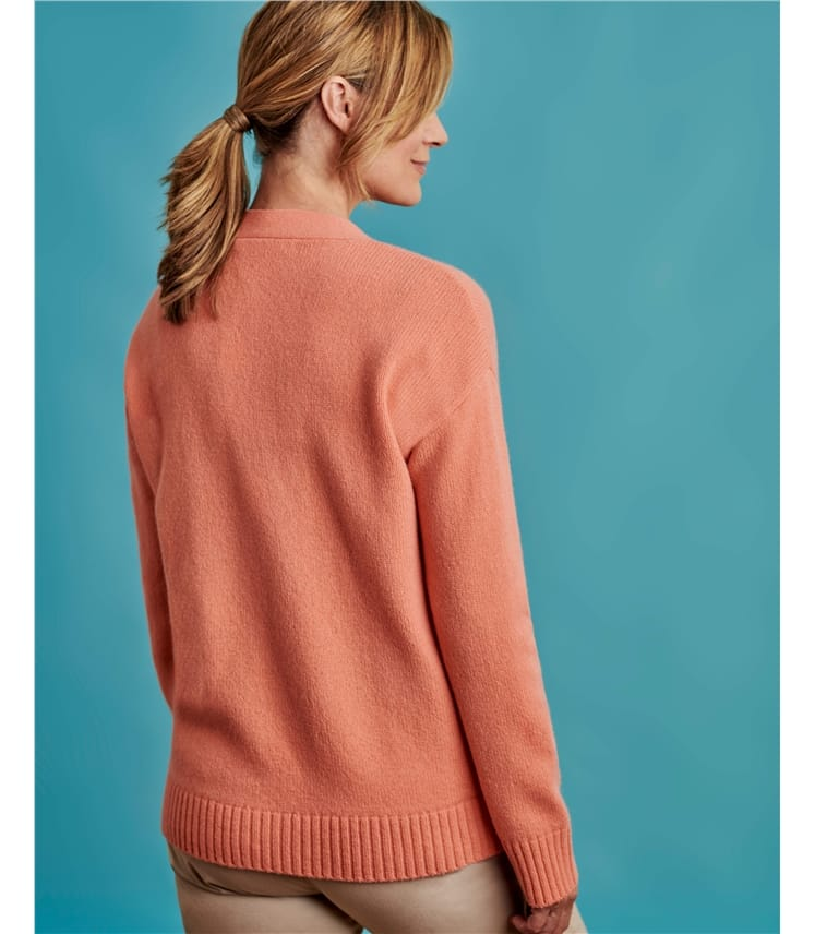 Pure Wool Easy Fit Cardigan
