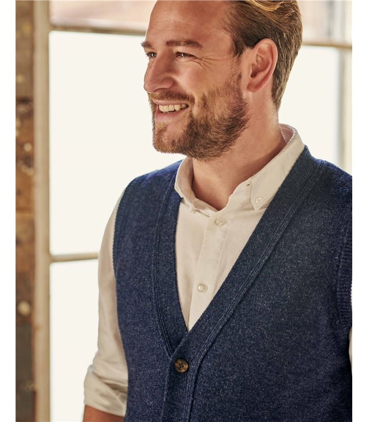 Lambswool Knitted Waistcoat