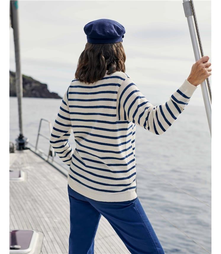 Square Armhole Breton Stripe Jumper