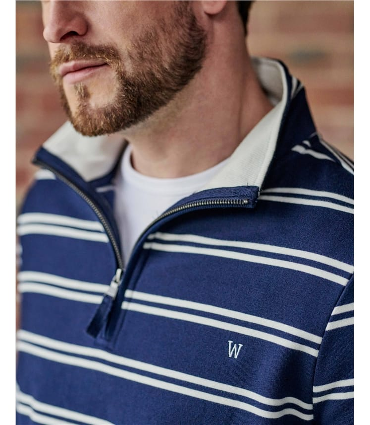 Mens Organic Cotton Half Zip Jumper