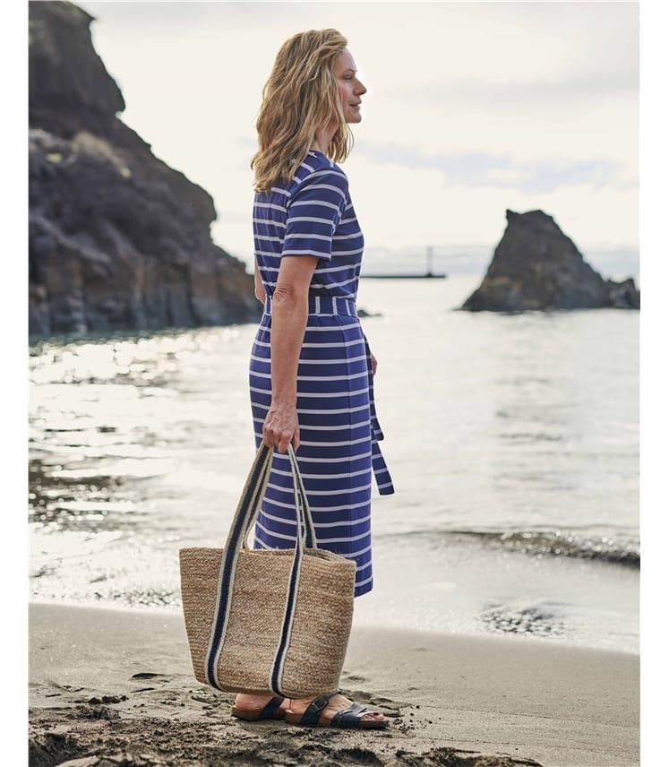 Organic Cotton Tie Waist Jersey Dress