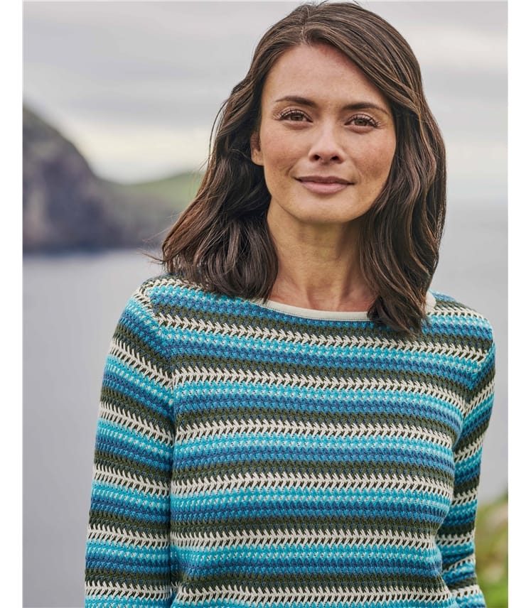 Organic Cotton Textured Stripe Sweater