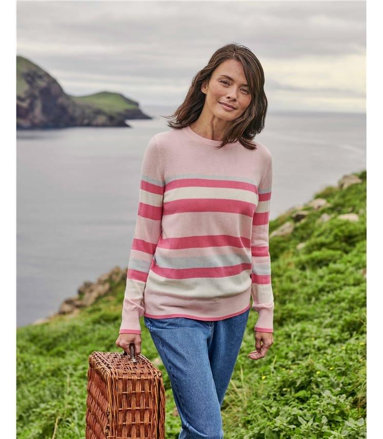 Multi Stripe Merino Wool Sweater