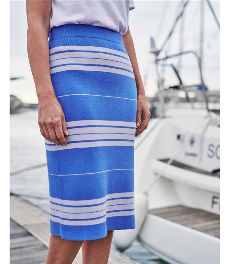 Midi Stripe Skirt