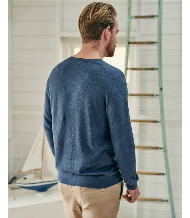 Organic Cotton Cashmere V Neck Jumper