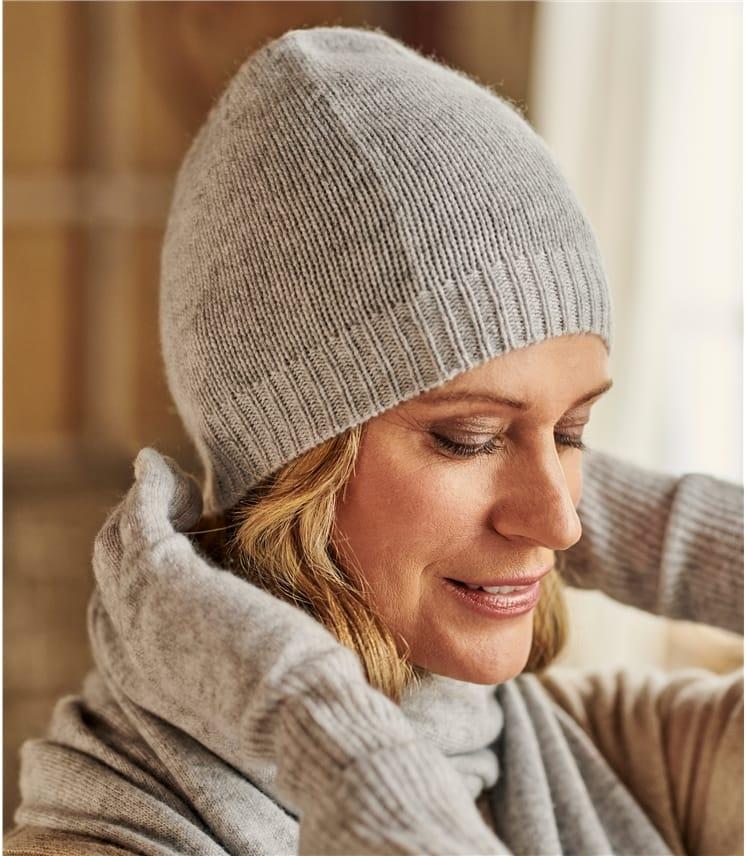 Womens Premium Pure Cashmere Hat