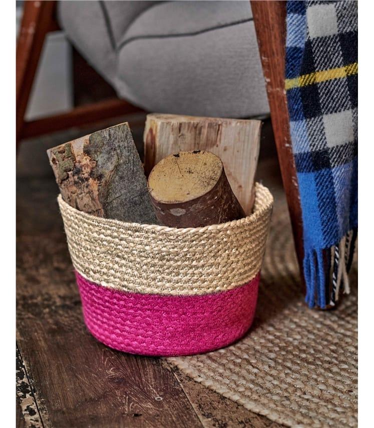 Organic Jute 2 Tone Basket