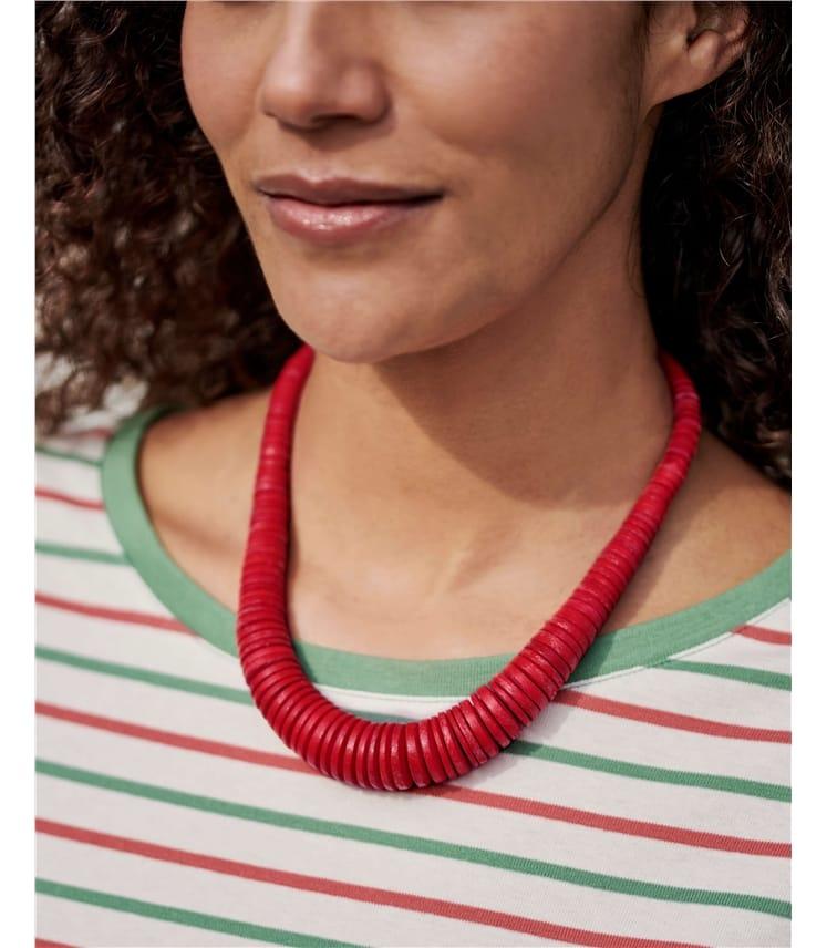 Graduated Disc Necklace