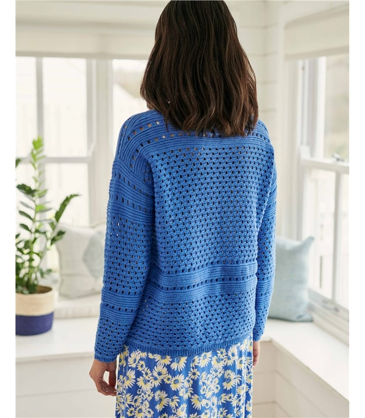 Organic Cotton Pointelle Sweater