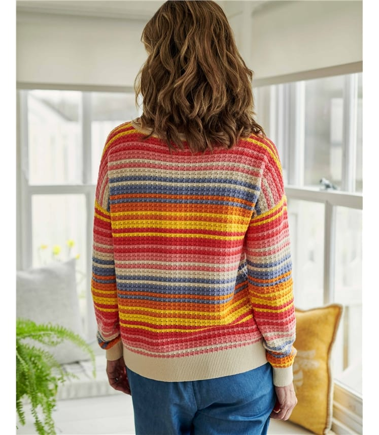 Organic Cotton Bright Stripe Jumper