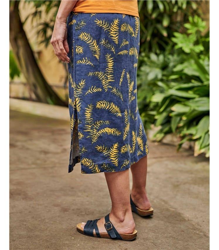 Tropical Printed Skirt