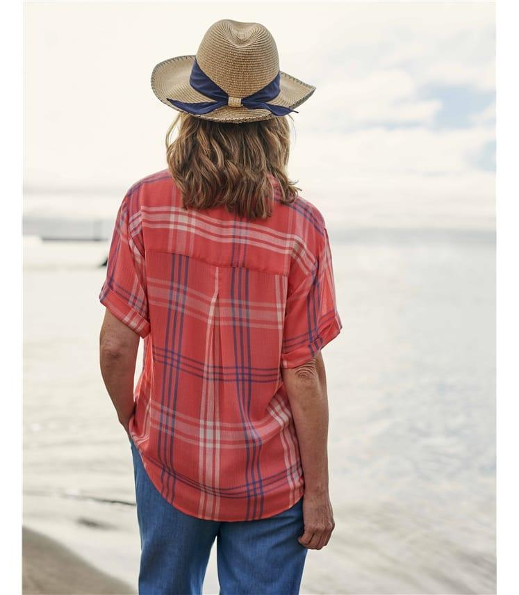 Chemise à carreaux - Femme - Viscose