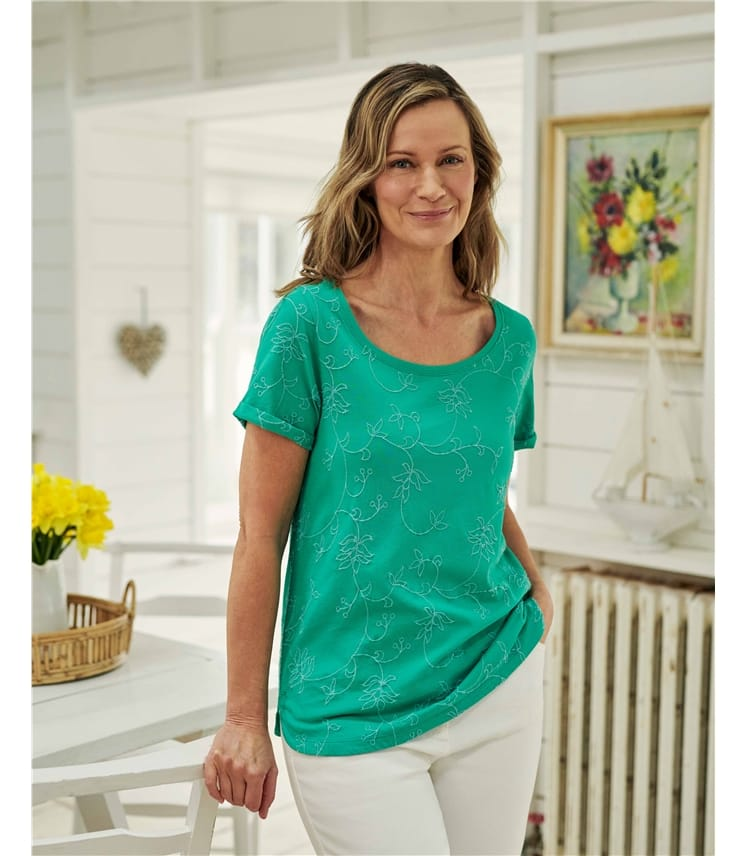 Embroidered Cotton Tshirt