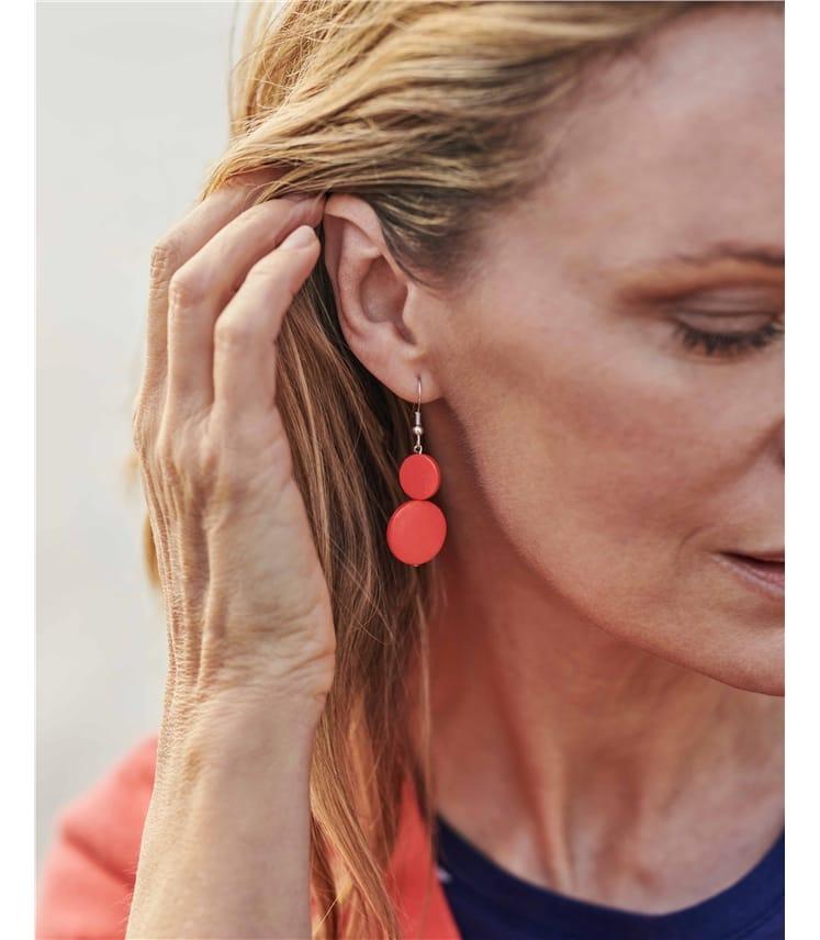 2 Tier Disc Earring