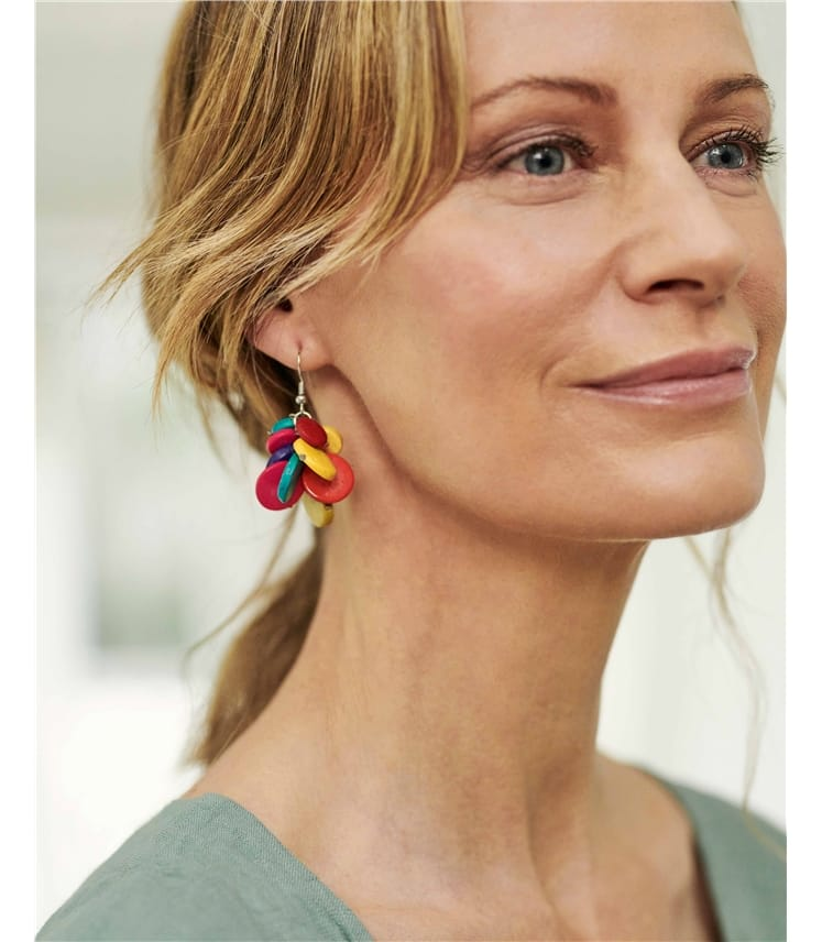 Cluster Drop Earring