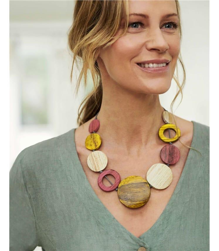 Hoop Tonal Disc Necklace
