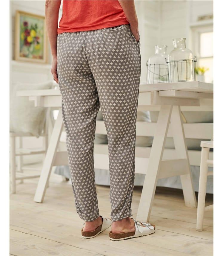 Printed Tapered Leg Trouser