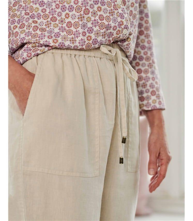 Linen Tapered Leg Trouser