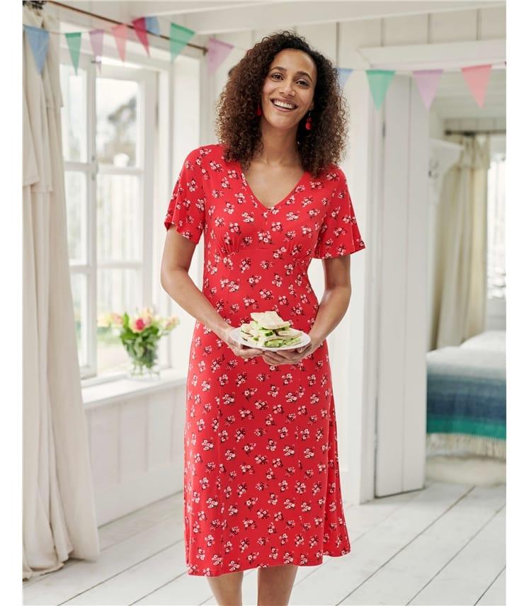 Angel Sleeve Tea Dress