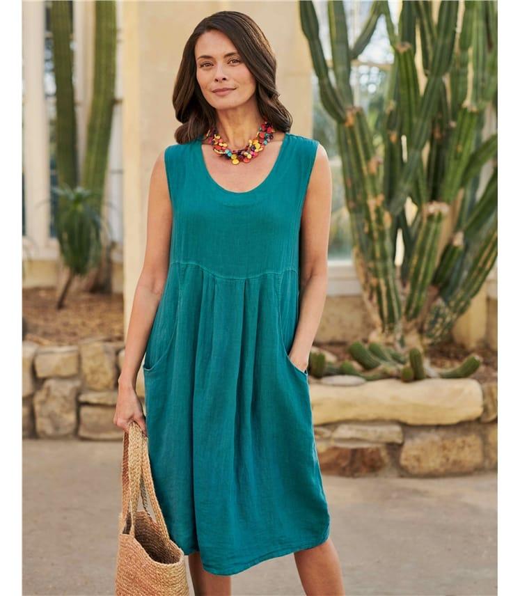 Sleeveless Linen Tunic