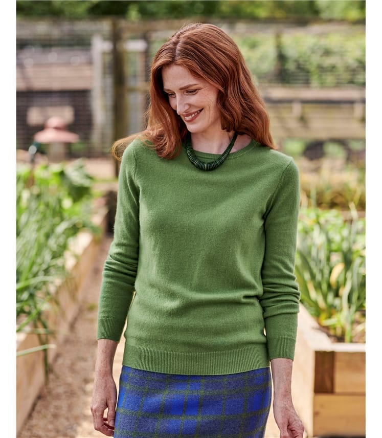 Cashmere and Merino Crew Neck Knitted Sweater