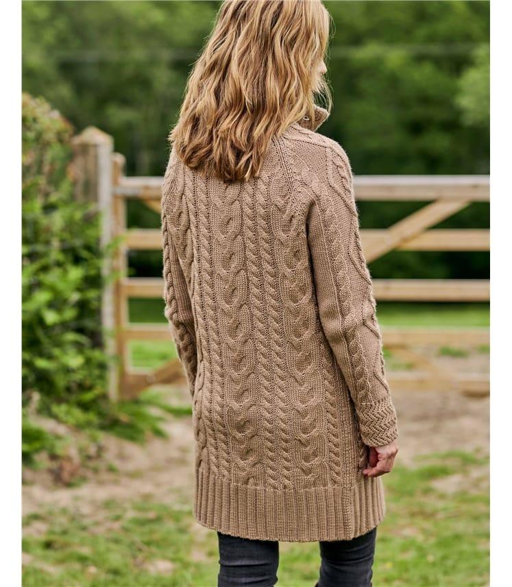 Pure Wool Aran Coatigan