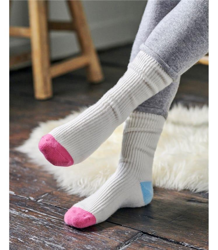 Chaussettes Colour block - Femme - Cachemire & Mérinos
