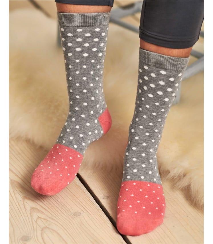 Женские носки в горох
