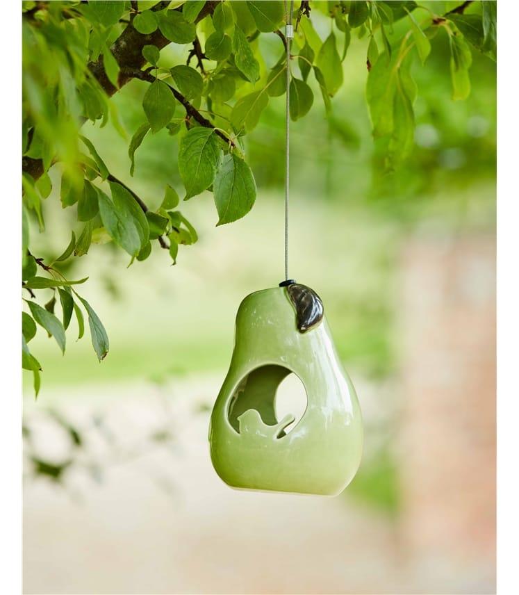 Burgon & Ball Sophie Conran Ceramic Bird Feeder Pear