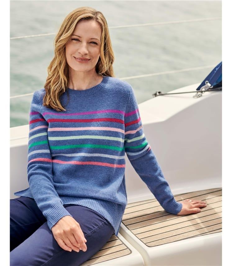 Multi Color Stripe Sweater