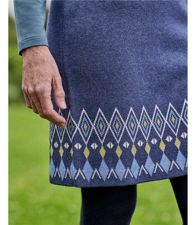 Patterned Hem Skirt