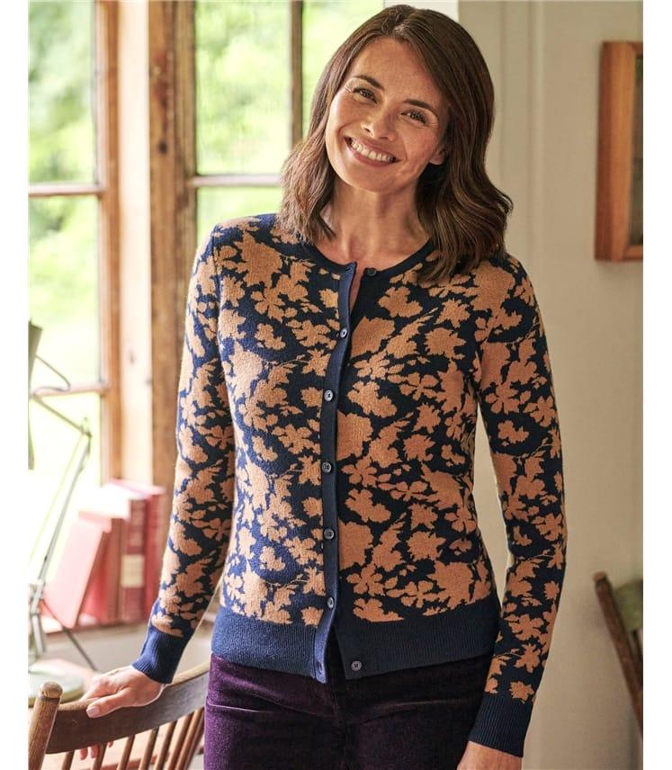 Floral Pattern Cardigan