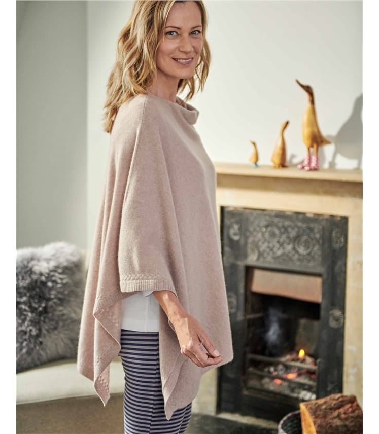 Luxurious Pure Cashmere Poncho