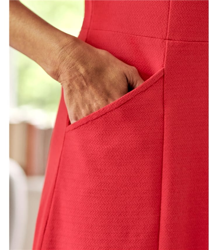 Jersey Fit & Flare Dress