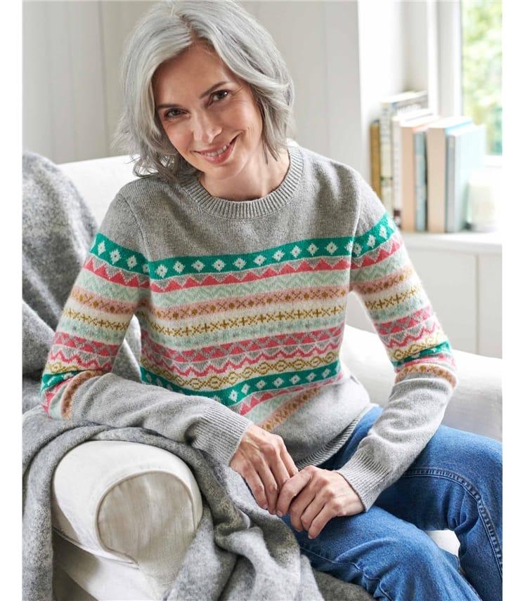 Pullover aus Lammwolle mit Fair Isle-Muster