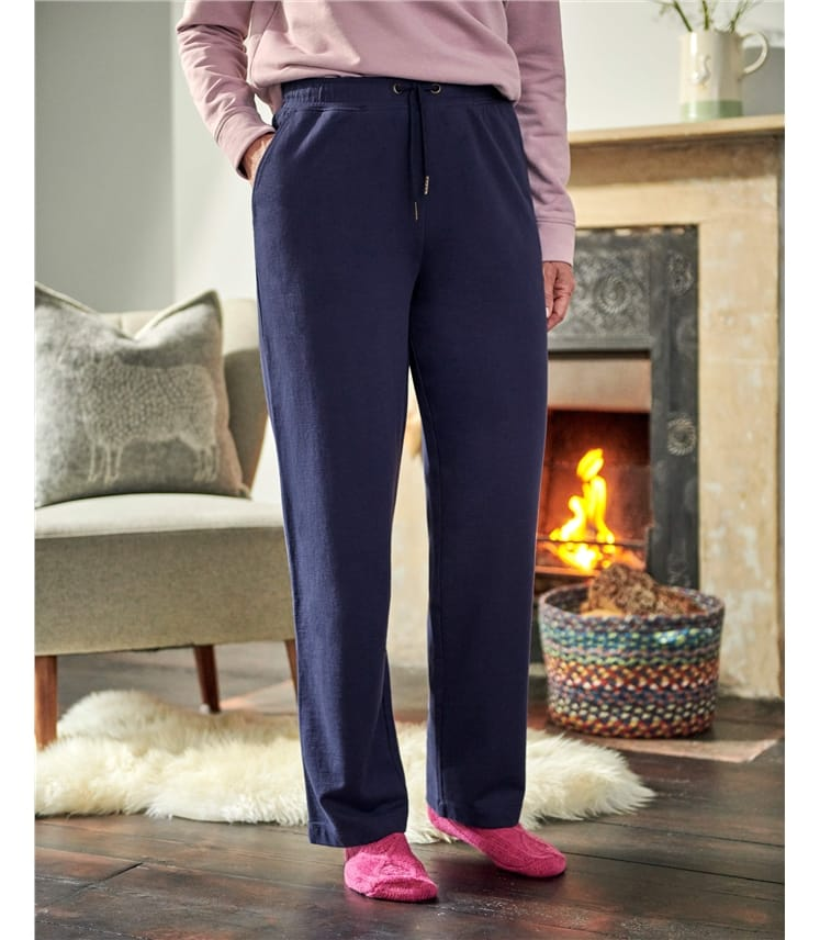 Pantalon large doux - Femme - Jersey