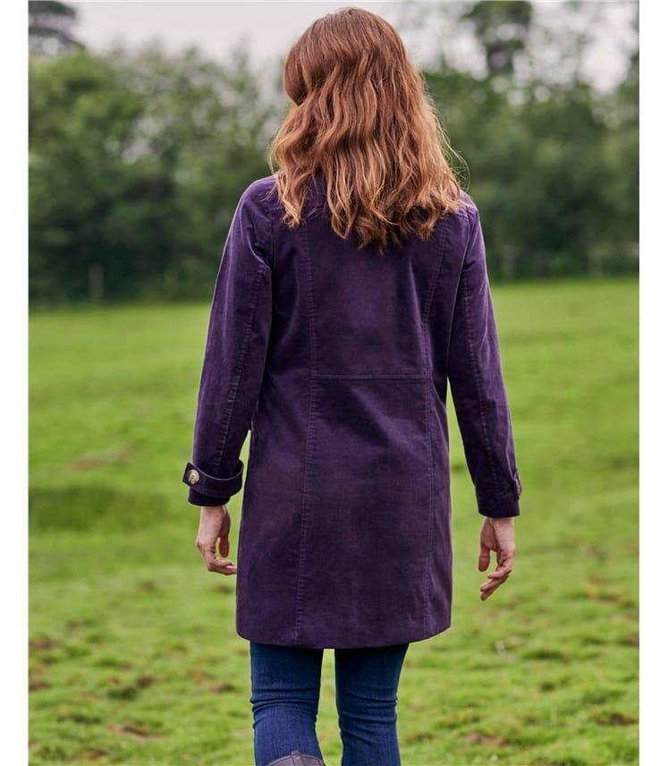 Manteau boutonné moleskine - Femme - Coton mélangé