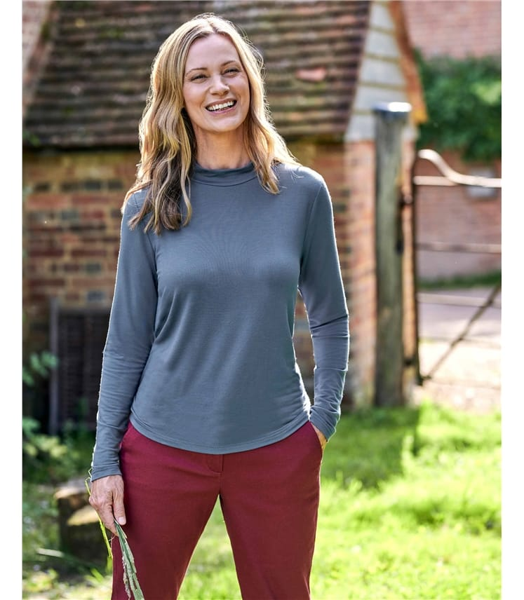 Relaxed Fit Turtle Neck Top