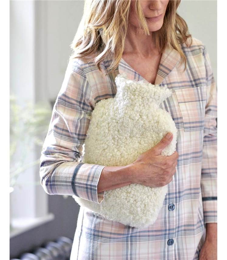 Shearling Hot Water Bottle and Cover