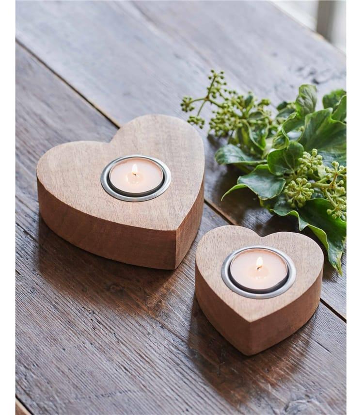 Two Pack Heart Tea Light Holders