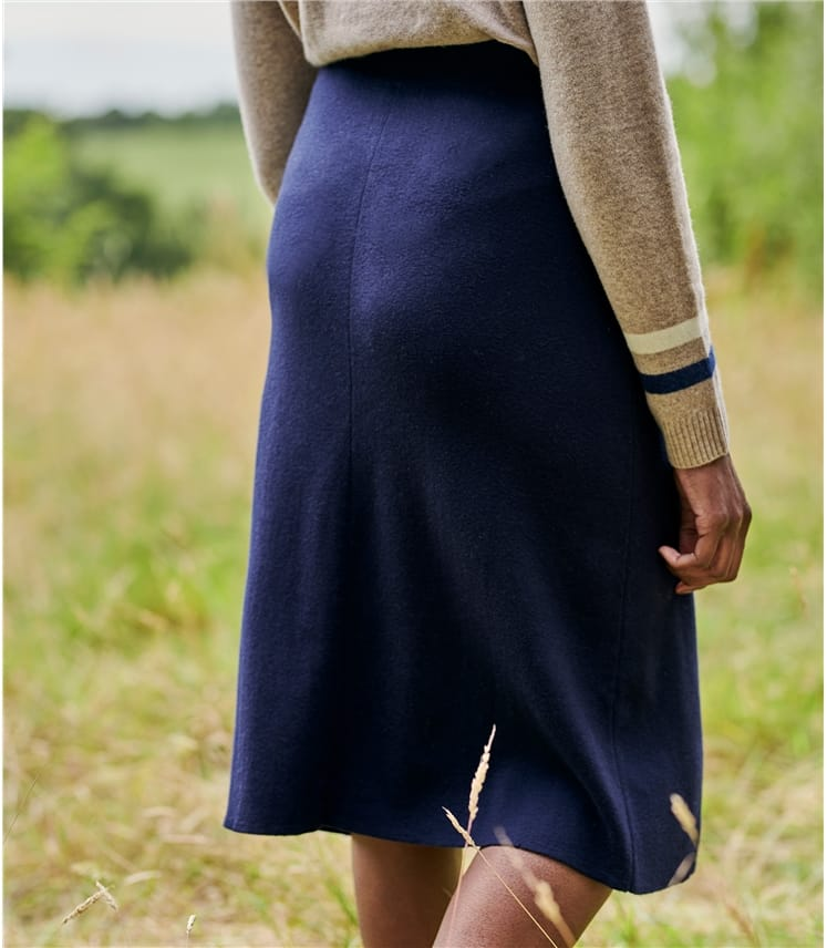 Womens Wool Blend A Line Skirt