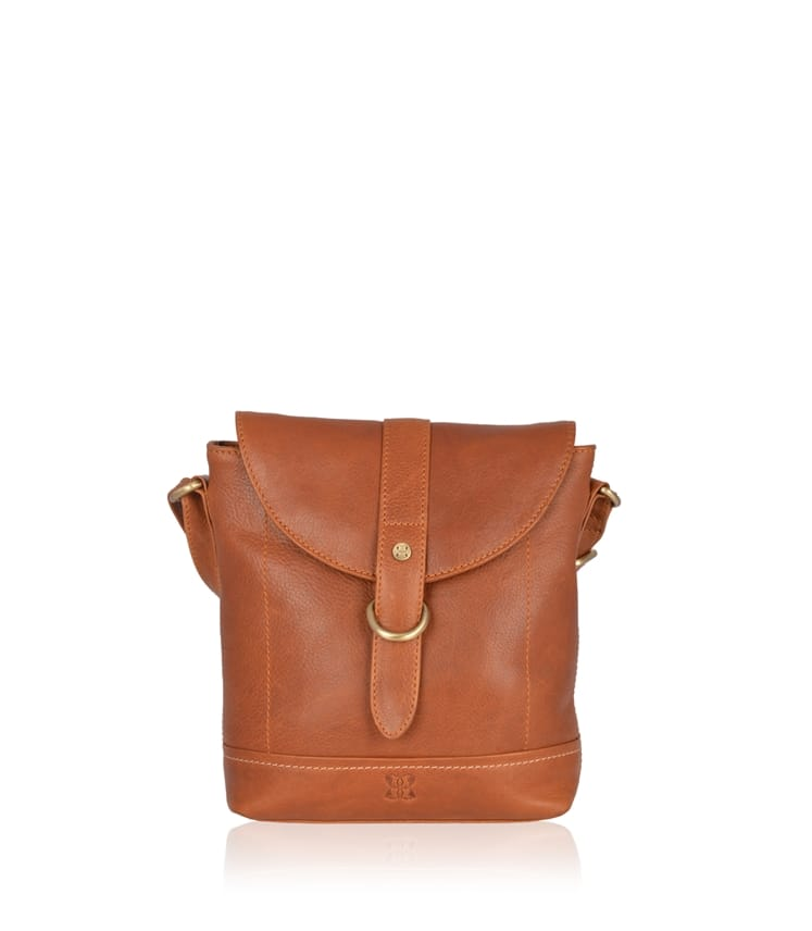 Allonby Flapover Leather Cross Body Bag