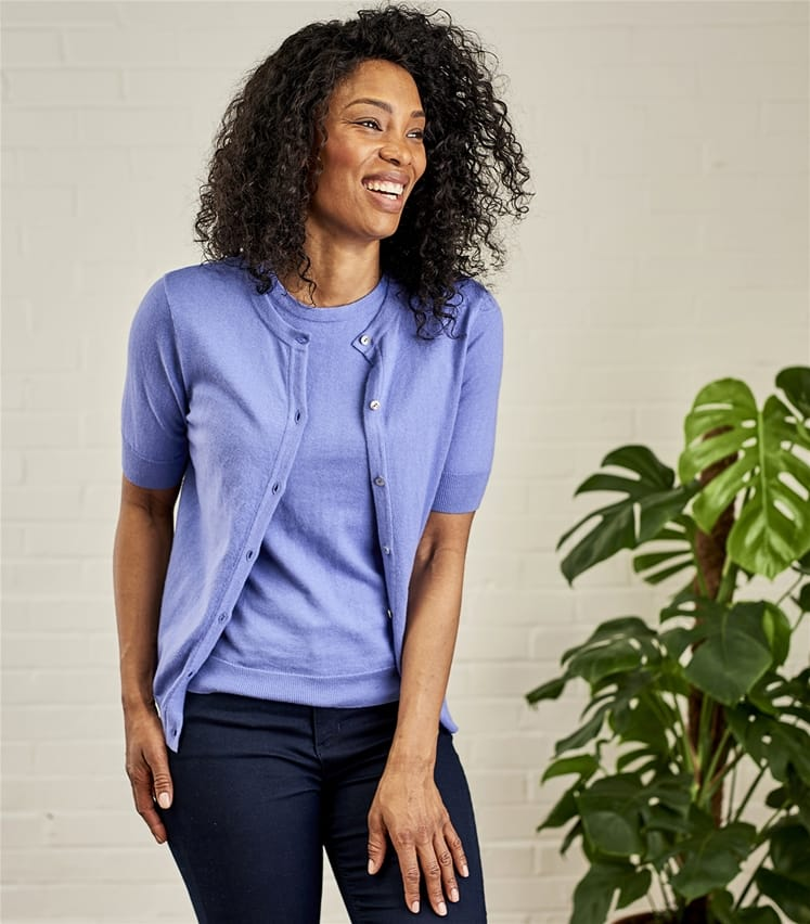Cashmere Cotton Fitted Mix & Match Top