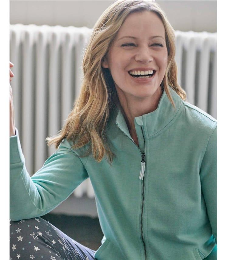 Cotton Zip Through Sweatshirt