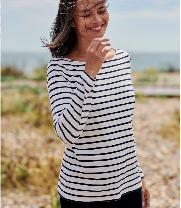 Top col bateau - Femme - Jersey